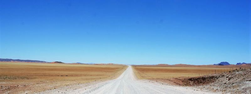 lonely dirt road Namibia